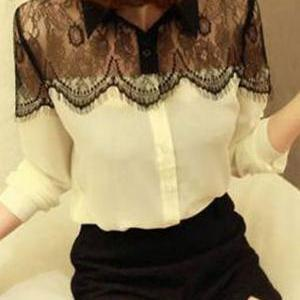 Contrast Color Fringe See Through M..