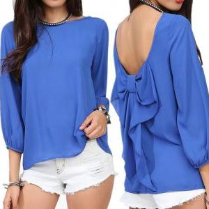 Big Bow Chiffon Shirt MCE