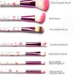 18 Piece Makeup Brush Set In Bow-Kn..