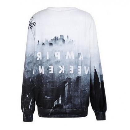Pullover Long Sleeve Fashion Loose ..