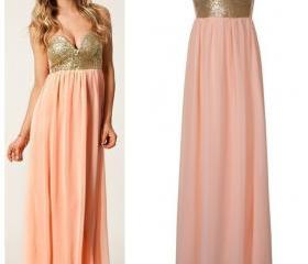 Sexy Sweetheart Strapless Sequined Chiffon Maxi Dress Women Cocktail Club Party Prom Dress