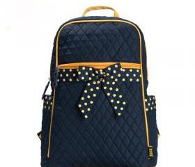 Nice Sweet Bow Dot Canvas Backpack