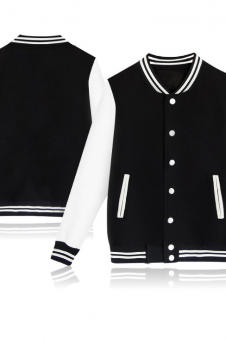 XQWBAA-397men women 2019 Casual Baseball Uniform Coat