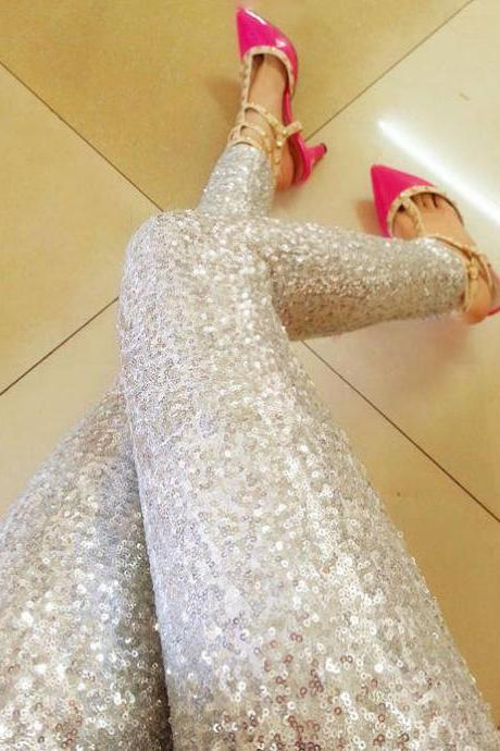 Sequined Pants Leggings