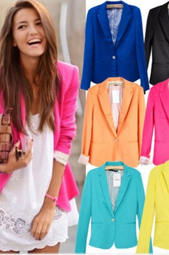 Lapel Blazer For Women Assorted Colors