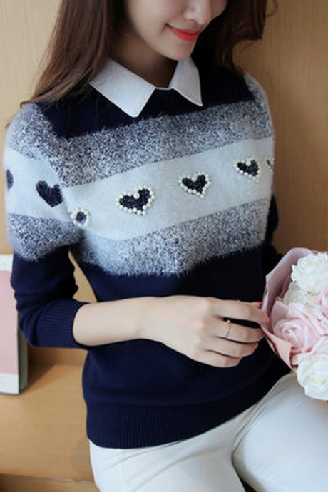 Cute Heart Sweater YL-46