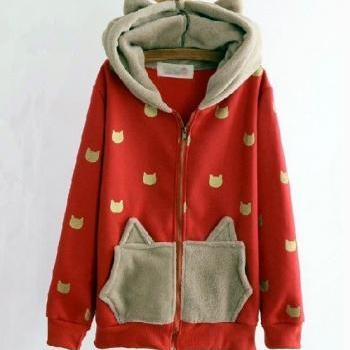 Lovely cat Hoodie jacket