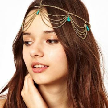 new arrival turquoise tassel hair bands hair jewelry hair accessories