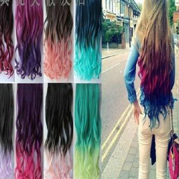 Fashion Gradual Color Hair Extension, one size