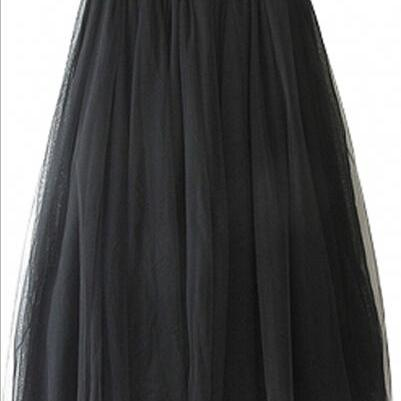 Fashion Mesh Layered Maxi Skirt