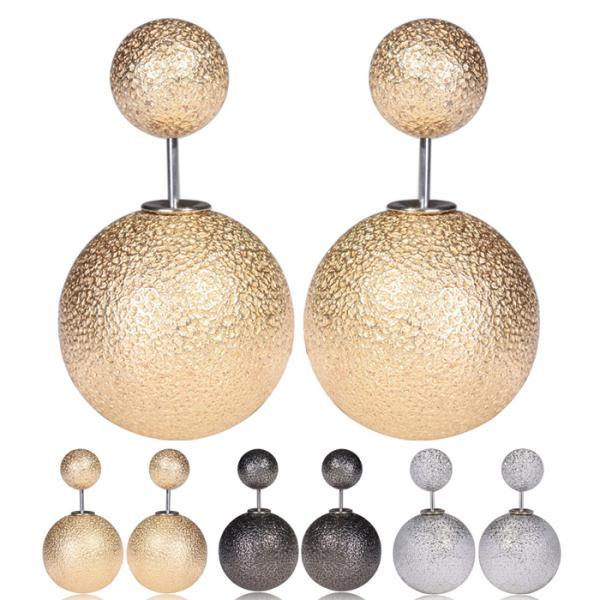 2015 New Design Wrinkle Korea Earrings Women Pearl Wrinkle Korean Earrings For Women